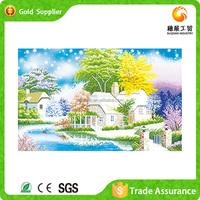 Wholesale price wall art beautiful scenery 5d diy stitched diamond painting