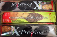 x-pression ultra braid/xpression hair braids/ 100% kanekalon jumbo braid