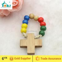 A&J Catholic Wood Finger Rosary Rings