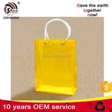 Customized Transparent PP PVC Plastic Hand Carry Bag with PVC pipe handle