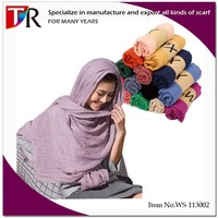 2014 Best Selling Very cheap Branded Cotton Women Plain Hijab Scarf
