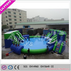 Popular summer 0.6mm plato pvc the ground giant inflatable kids water park