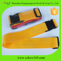 Yellow Travel bag accessories custom 2cm*5m adjustable luggage belt
