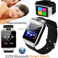 Smart watch 2015 Latest DZ09 Bluetooth Smart Watch For Apple Samsung IOS Android Cell phone 1.56 inch SIM Card