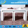 2015 hot selling high gloss white nesting coffee table , side table, teatable,teapoy