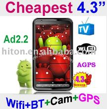 4.3 inch Android 2.2 TV GPS GSM GPRS PDA MID UMPC Tablet PC Phone with GPS GSM GPRS