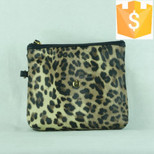2015 soft leather printed leopard travel women best cosmetic bag Guangzhou suppliers of cosmetics