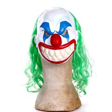 Popular Funny clown masks Ugly Halloween Latex Mask with Wig