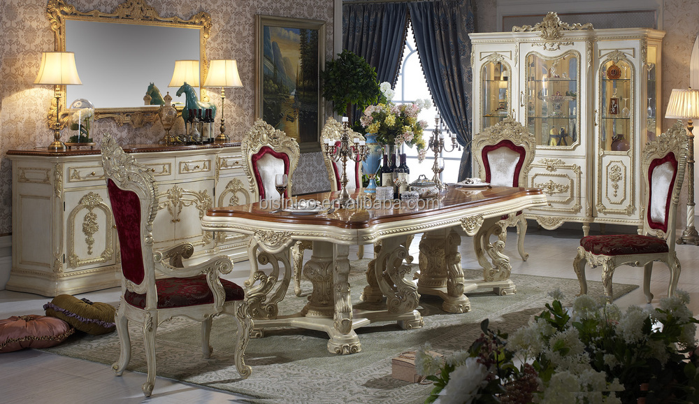 bisini luxe italienne de style table manger fran ais royale salle manger meubles table de. Black Bedroom Furniture Sets. Home Design Ideas