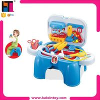 PP plastic doctor play set toy for kids