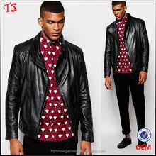 China clothing factory OEM design man leather jacket motorcycle jacket