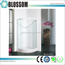 Best design sector clear glass seal strip shower cubicles enclosure