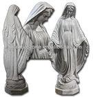 Porcelana branca de pedra estátuas da virgem maria