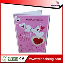custom handmade embossing and hotfoil heart love greeting card