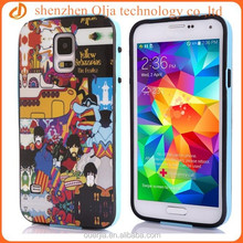 Olja 2014 newest owl patterned tpu case for samsung galaxy s5,2 in 1 plastic tpu bumper for samsung galaxy s5 case