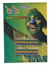 Brazilian World Cup face paint die cut vinyl stickers