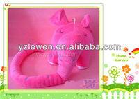 soft stuffed plush pink elephant ruler toy