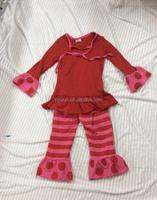 Custom Design European Brand Name Remake Teenage Girls Polka Dot Holiday Clothes Cheap Newborn Baby Clothing Set
