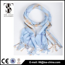 Hot sell wholesale fashion knitted acrylic scarf
