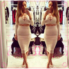 two pieces bandage dress transparent sexy night dress for girls