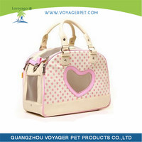 Lovoyager Pink Princess Style PU Cute Dog Carrier Bag