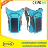 Factory price travel solar mobile charger bags, backpack with solar panel 10000mah