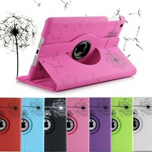 DANDELION FLOWER 360 Rotating PU Leather Case Smart Cover Stand For iPad 2 3 4
