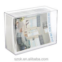 High clear acrylic paper magazine newspaper holder display tray wholesale