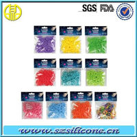 glow in dark rainbow refill band loom rubber bands refills