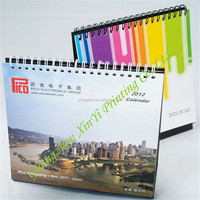 Advertising Full Color Printing Desk Calendar Design With Custom Logo