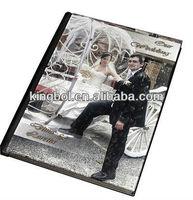 Perspex cover flush mount album for wedding photo album
