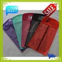 quality paper hair extension bags hair packaging bags hair stylist bag with die cut handle black