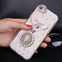 bling diamond mobile case for iphone 6 plus ,for iphone 6 bling Rhinestones case