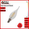 alibaba expressa jiangsu china levou filamento da vela lâmpada 2w 230v com tuv certificated