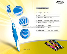 2015 Professioal design Double fresh color adult toothbrush