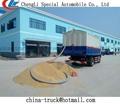 De granos a granel de succión y la entrega de camiones, alimentos a granel de camiones de transporte