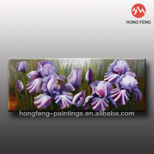 Modern purple unique flower da vinci handmade oil fabric painting