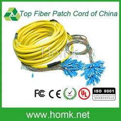 factory supply 72 core sc/upc 0.9mm fiber optic patch cord,sc/upc 72f fanout patch cord