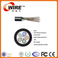 APL Moisture Barrier GYTA Strand Non-armored G655 OM3 Outdoor 144 Core Fiber Optic Cable