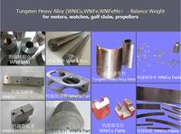 high density tungsten balance weight