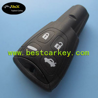 Good quality car key cover remote case for saab smart key shell with hard button and emergency key