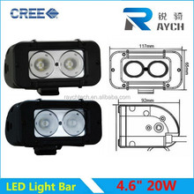 new product!!4x4 offroad IP68 one row aluminum 20w car led light bar High power waterproof single row off road led light for ATV
