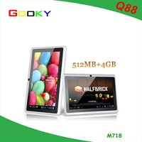 7 inch q88 android tablet cheap tablet with flashlight generic android tablet