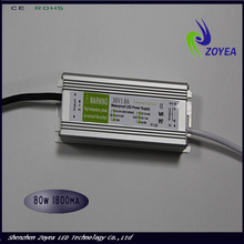 80W 2.1A waterproof constant current led driver 30-36V IP67 with CE&RoHS