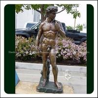 Cast Famous Garden Classic David Life Size Bronze Sculpture