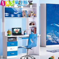 Modern Study Design Bookcase With Study Table 8332