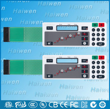 OEM LED membrane keypad with nicomatic connector
