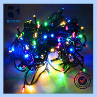 cheap decoration halloween mixed color led solar lighted christmas trees