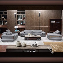 HD338 High end Aniline leather sofa furniture design made in foshan