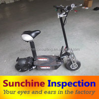 Folding scooter inspection service in China/quality control inspection company/Third party inspection service in China